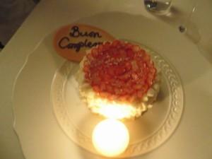 バースデーケーキ、斎藤シェフ作