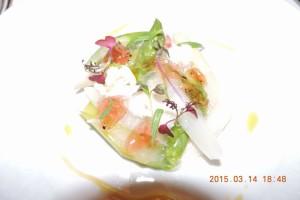白と緑のアスパラガス マセトドワンヌ レモンジュレ エストラゴン