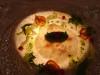 鯛のマリネとブロッコリ―のタルタル、 赤スグリのドレッシング